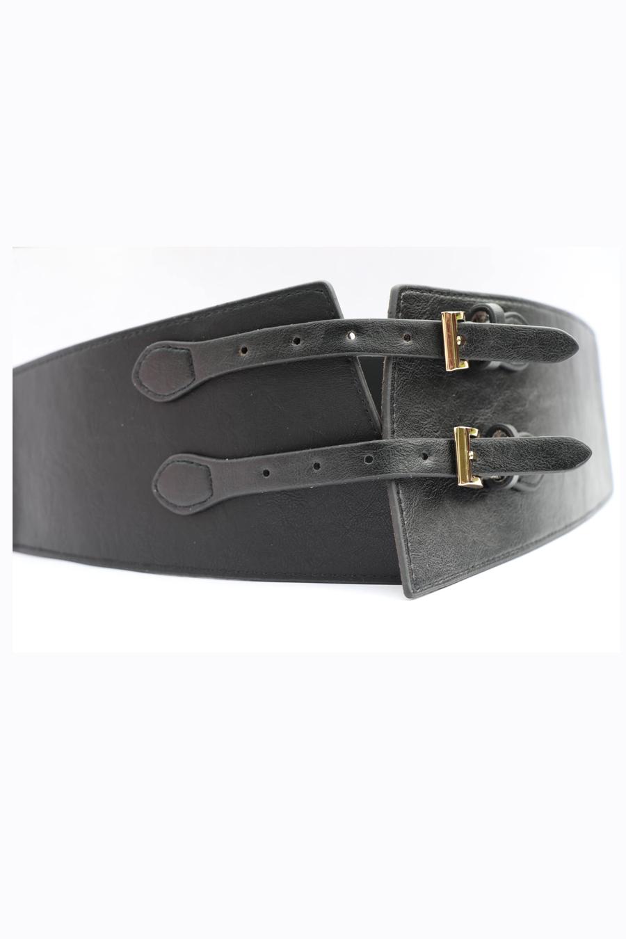 Black Buckled Belt