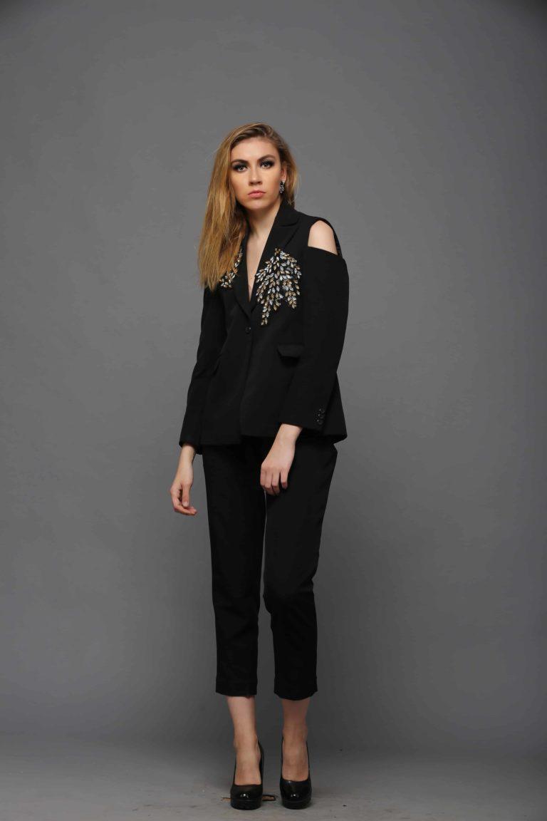 SAI 93 Black Blazer Set