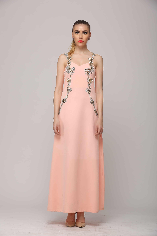 SAI 112 Glamorous Peach Gown