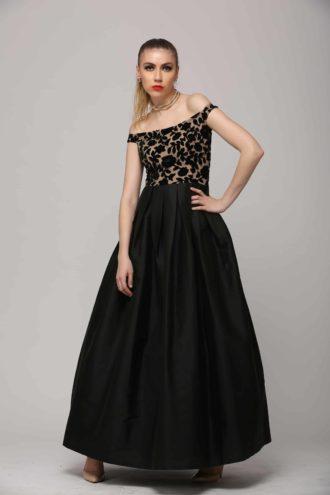 SAI 113 Sizzling Black Gown