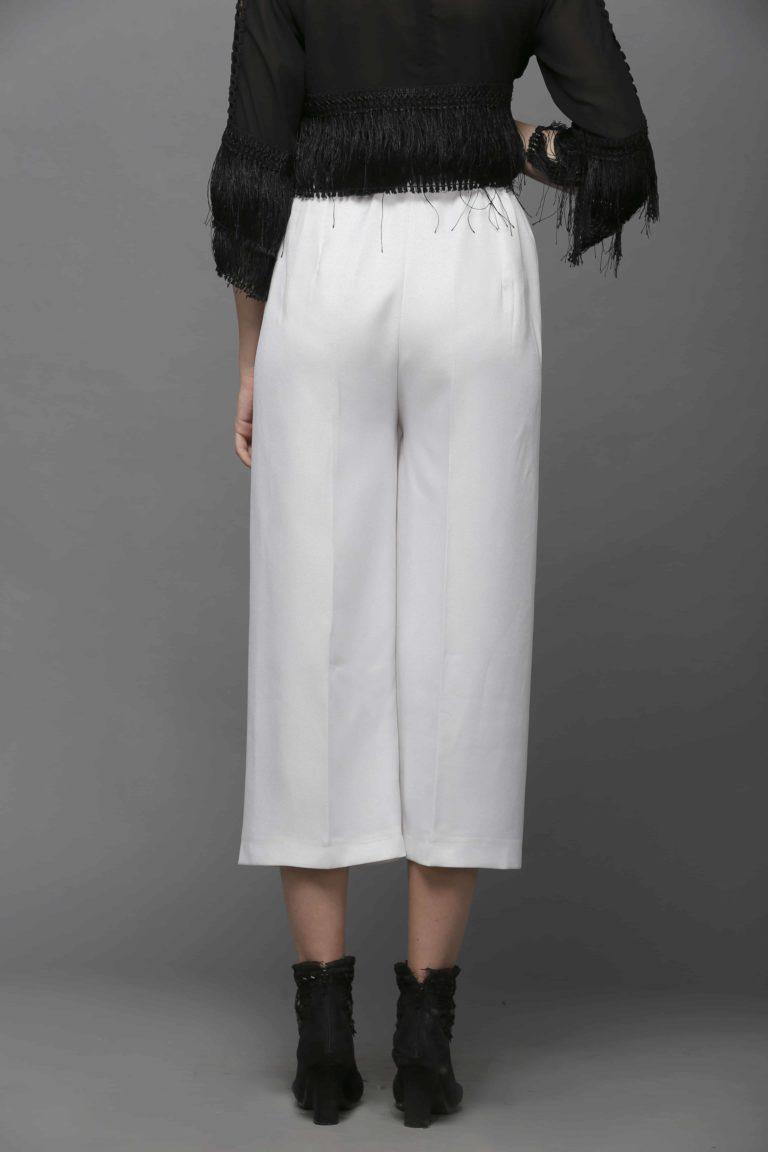SAI 121 White Culottes Trouser