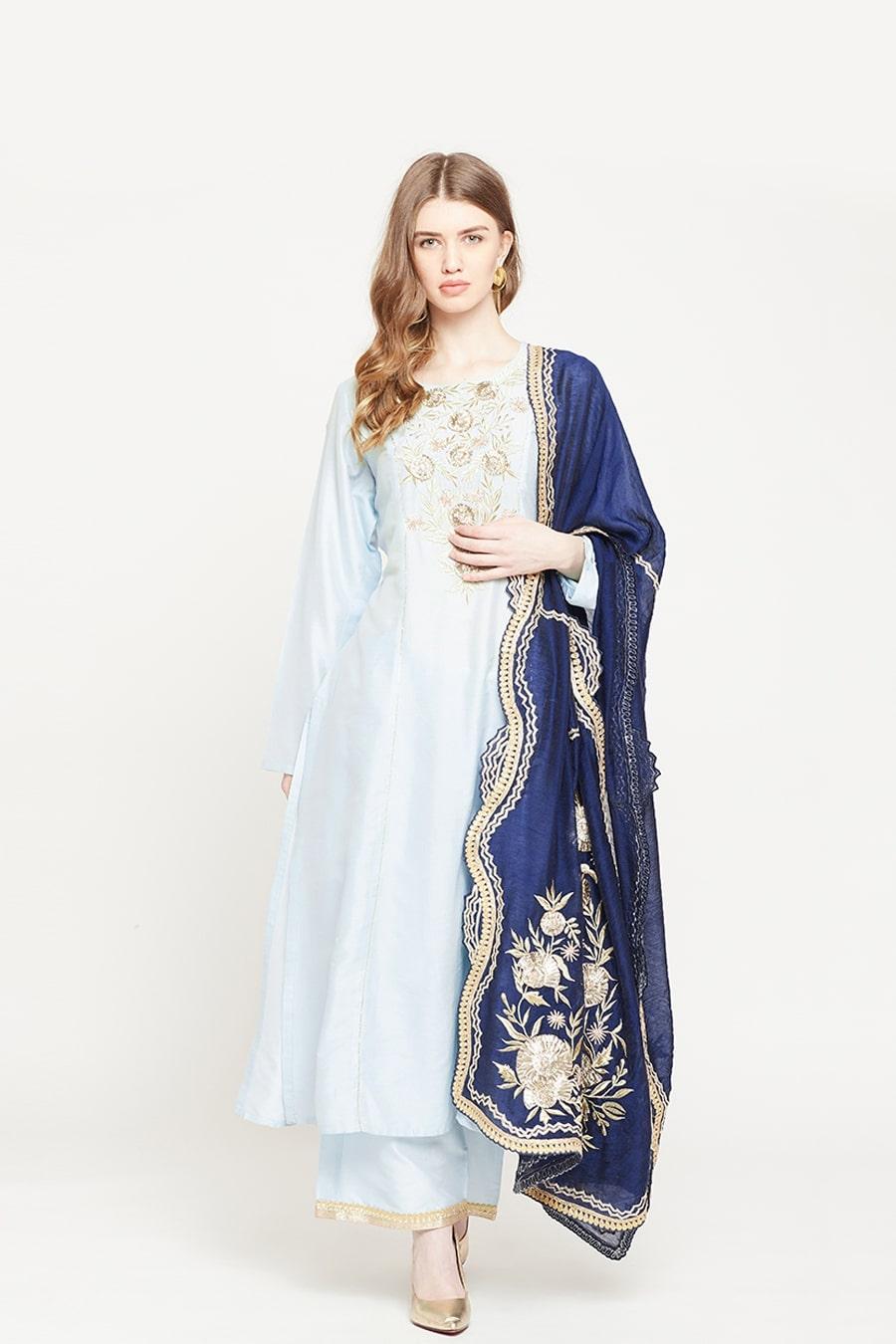 Angelic Powder Blue Suit