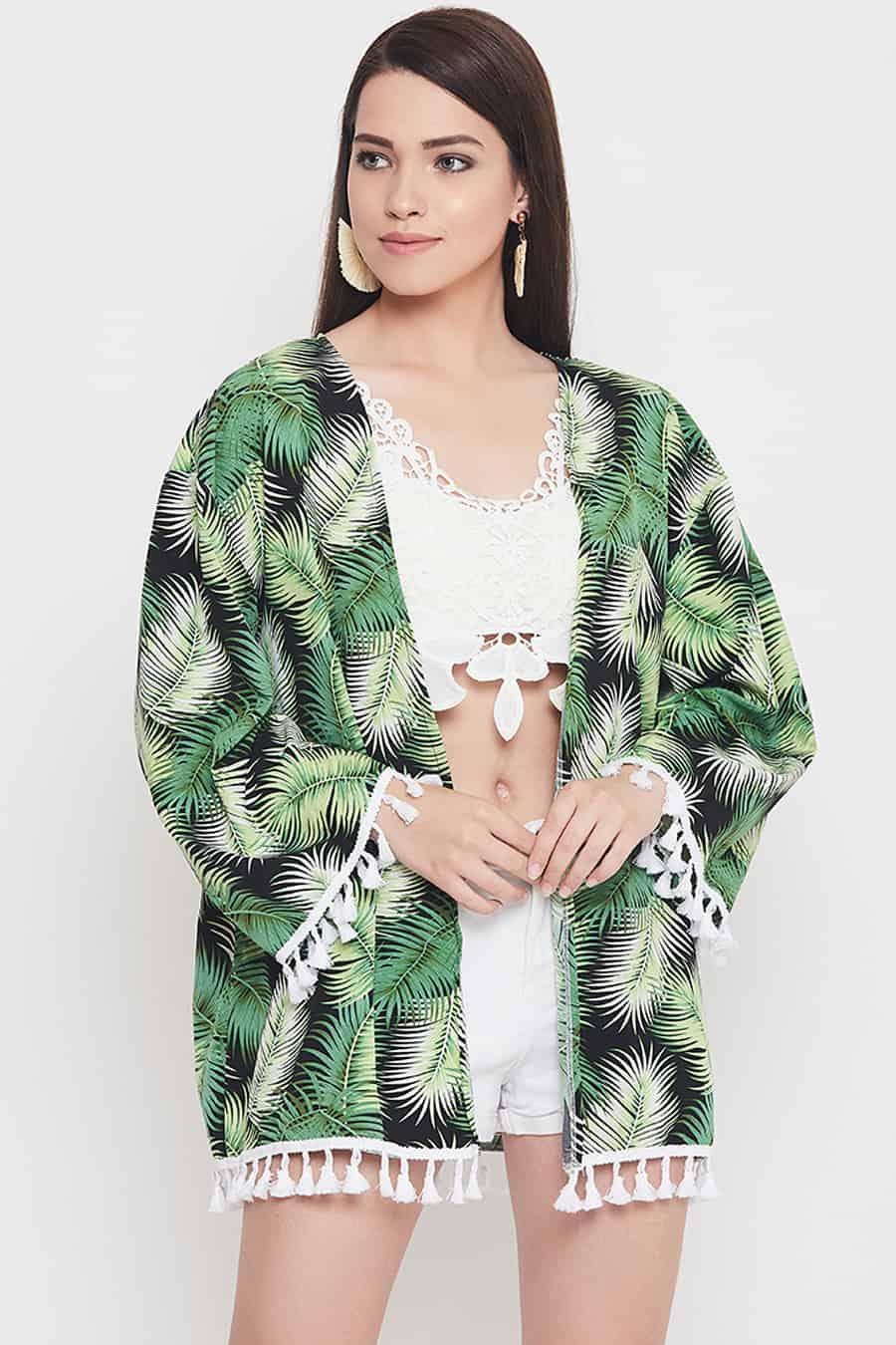 Black base kimono