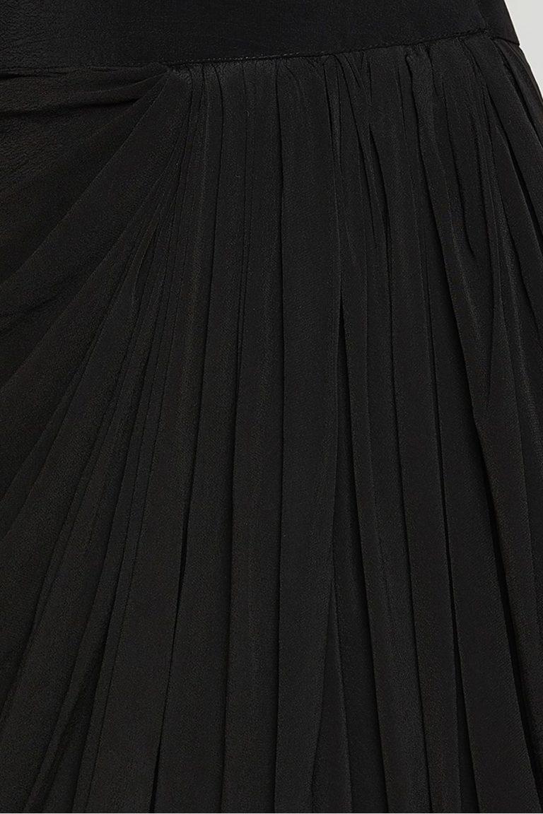 Black Shrug with Dhoti
