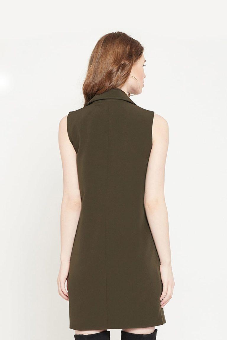 Military Green Blazer Dress