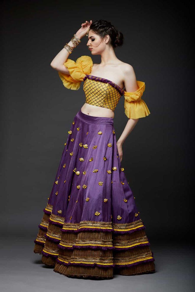 Lehenga with corset blouse