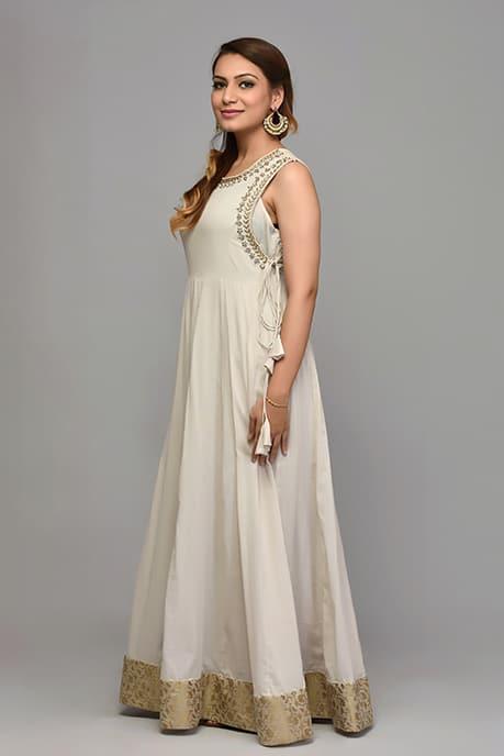 SAI 10 Halter Cut Anarkali Gown