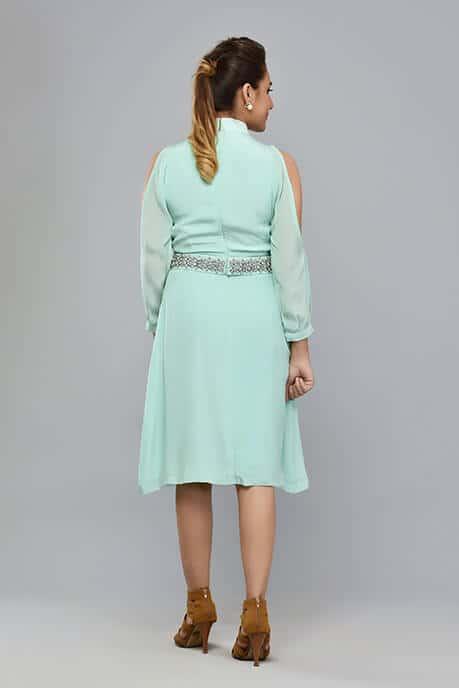 SAI 55 Aquamarine High Band Dress