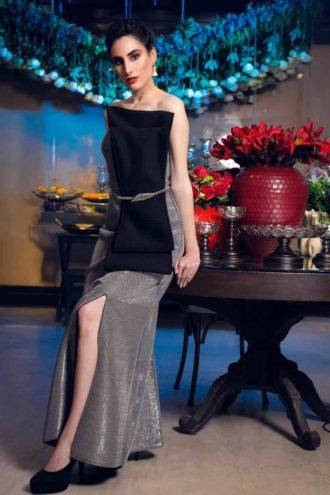 Shimmer slit dress