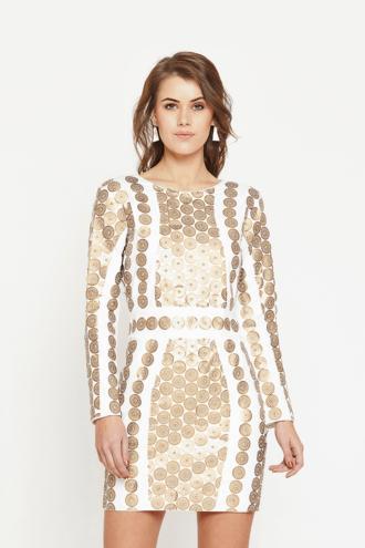 White Coin Dress