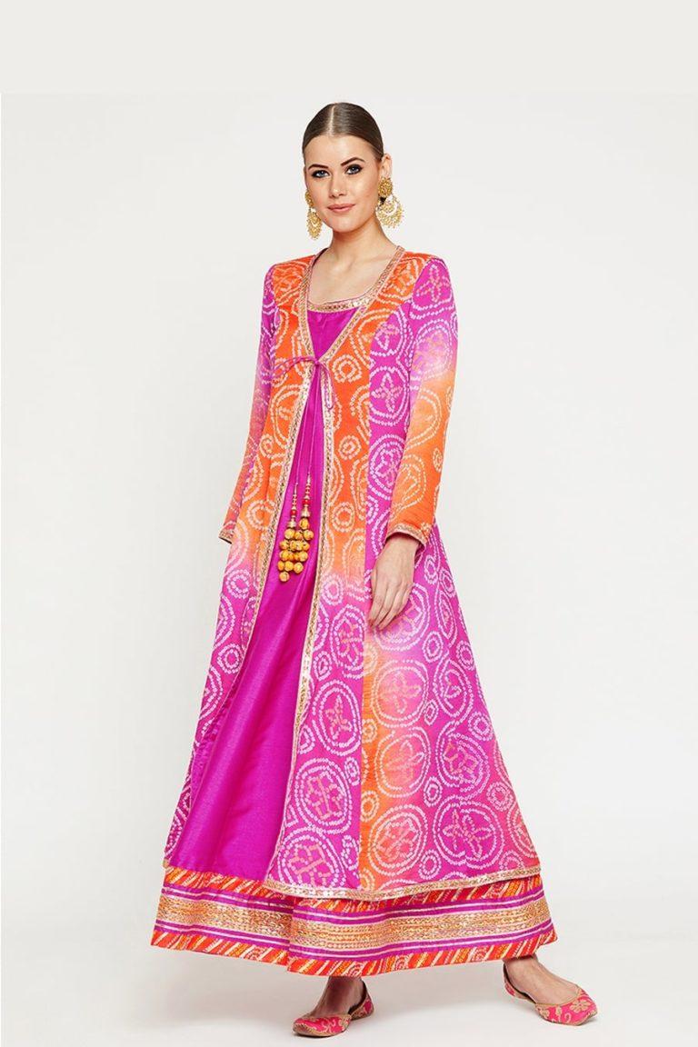 Bandhani Pink Suit