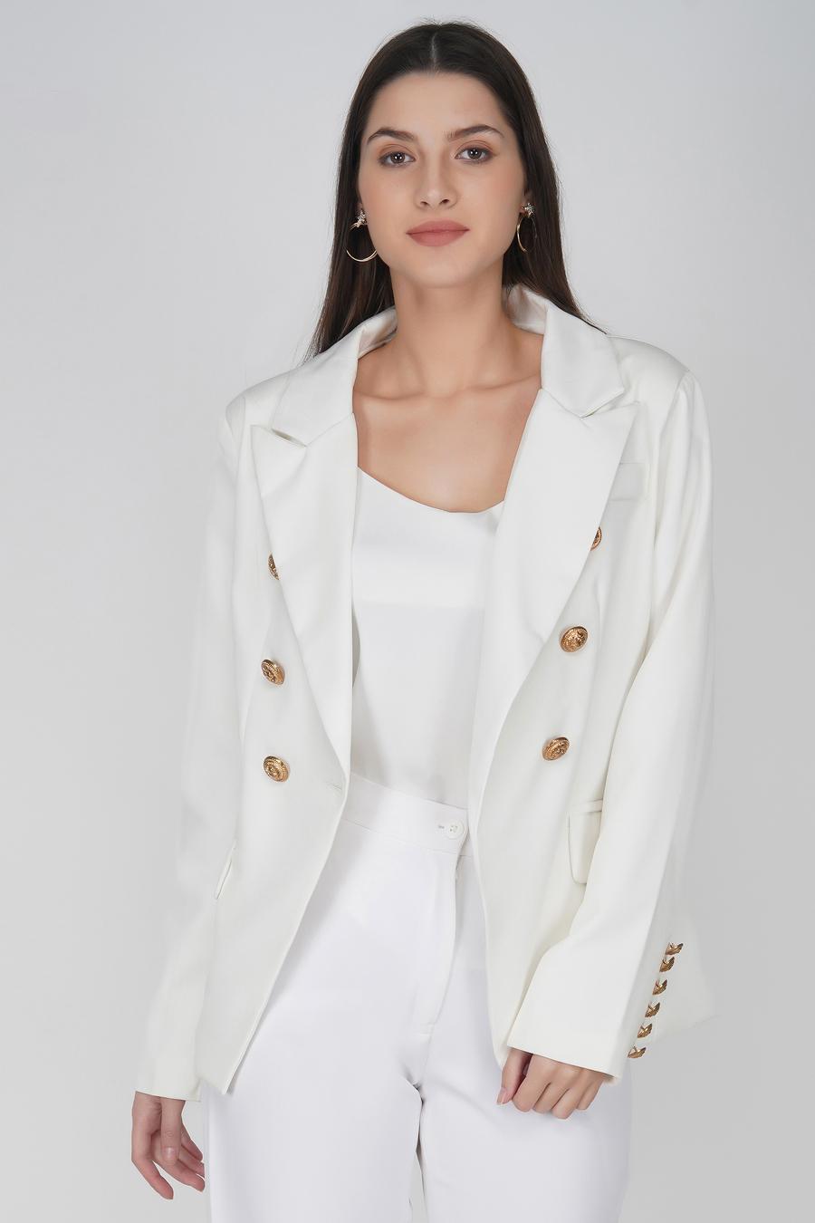 White gold buttons blazer