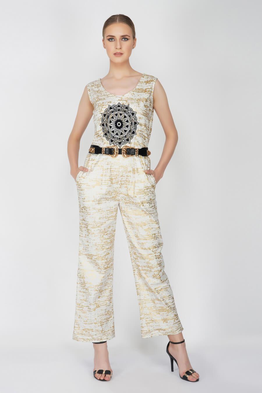 Foil Printed Jumpsuit