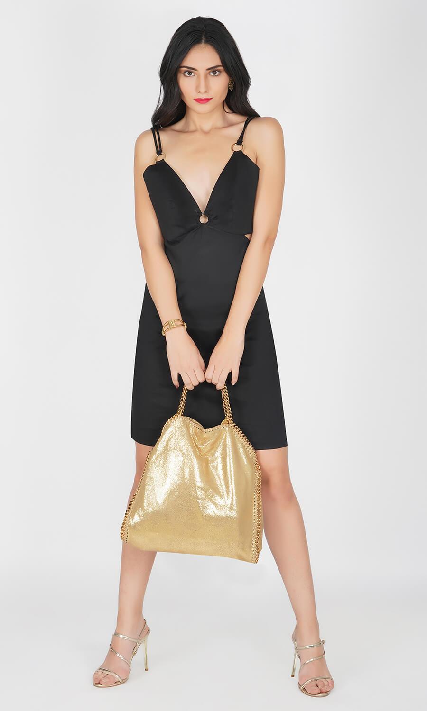 Kovet Black Double Strap Dress