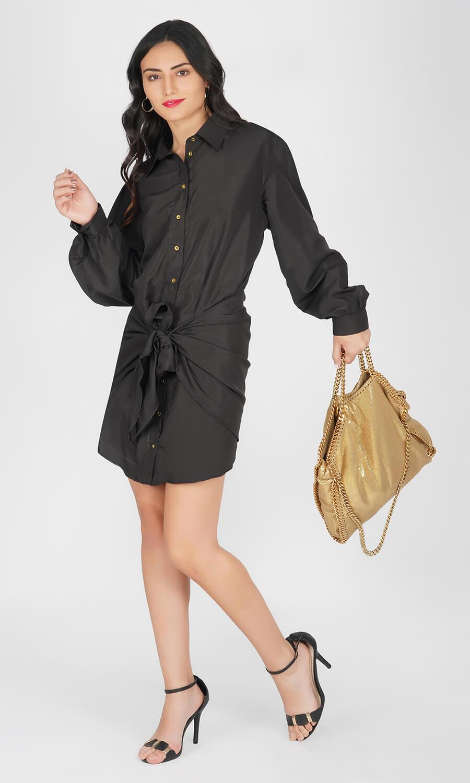 Kovet Black Shirt Dress